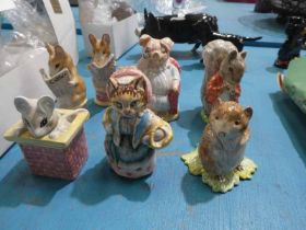 Seven Beswick Beatrix Potter Figures - unboxed
