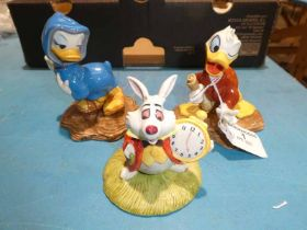 Royal Doulton Fantasia 2000, Noah's Helper, Heart on a String and Showcase White Rabbit