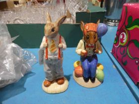 Royal Doulton Classics: Party Time Bunnykins D7160 and Father Bunnykins DB227, both limited edition