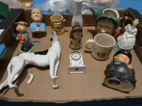 A collection of eleven items of ceramics inc Bairstow, Goebel, Sandland etc