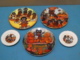 Decorated Plates by Joan Allen inc The Rag Time Boys