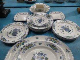 A twenty-three piece part Dinner Service by Burleigh