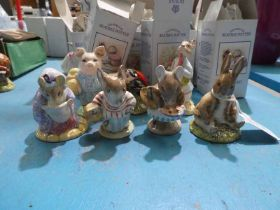 Seven Royal Albert Beatrix Potter Figures - boxed