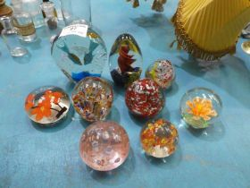 Nine Assorted Paperweights