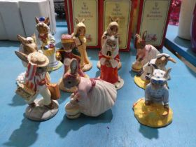 Eleven Royal Doulton Bunnykins Figures - boxed