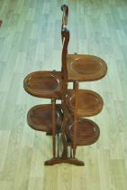 An Edward VII mahogany folding Cake Stand 92.5cm height