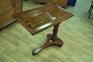 Mahogany Invalid Table by Carter of London for over bed or as a Music Stand, Victorian