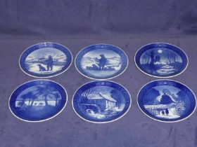 Thirty Royal Copenhagen Christmas plates 1960 to 1989 inclusive