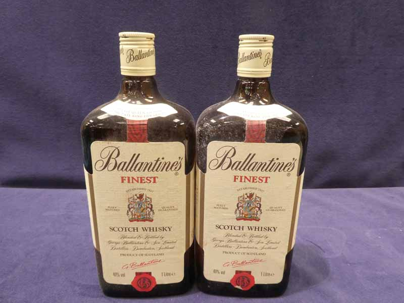 Two bottles of Ballantyne's finest Scotch whisky, 100cl 40% vol