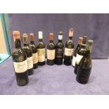 Ten bottles of French red table wines, Cahors, Fitou, Pecharmont, Rhone, Graves, Pays d'Oc