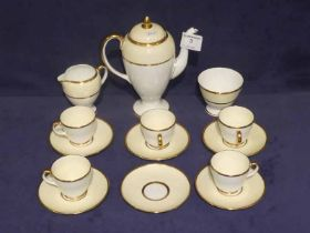 A wedgwood bone china coffee service, fourteen pieces for six places, one cup missing