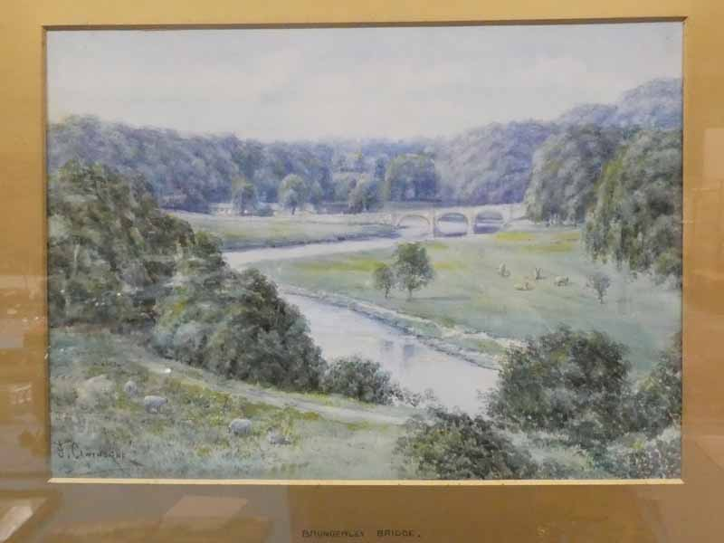 F Cawthorne ( early 20th Century) Brungerley Bridge from the park (Clitheroe), a signed watercolour,
