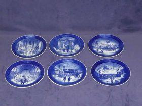 Thirty Royal Copenhagen Christmas plates 1990 to 2019 inclusive