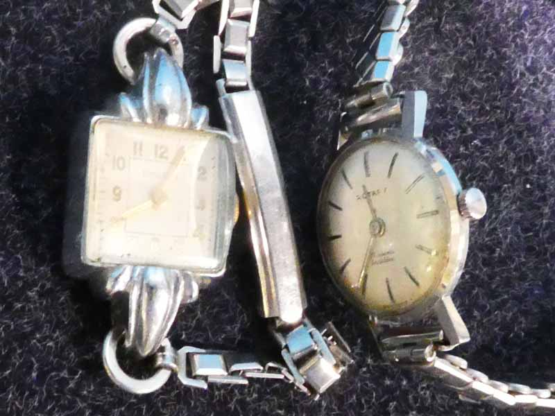 A 1950's lady's Rotary wristwatch and an Ensign cocktail style wristwatch