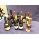 A mixed lot of twelve French, Spanish and Italian table wines