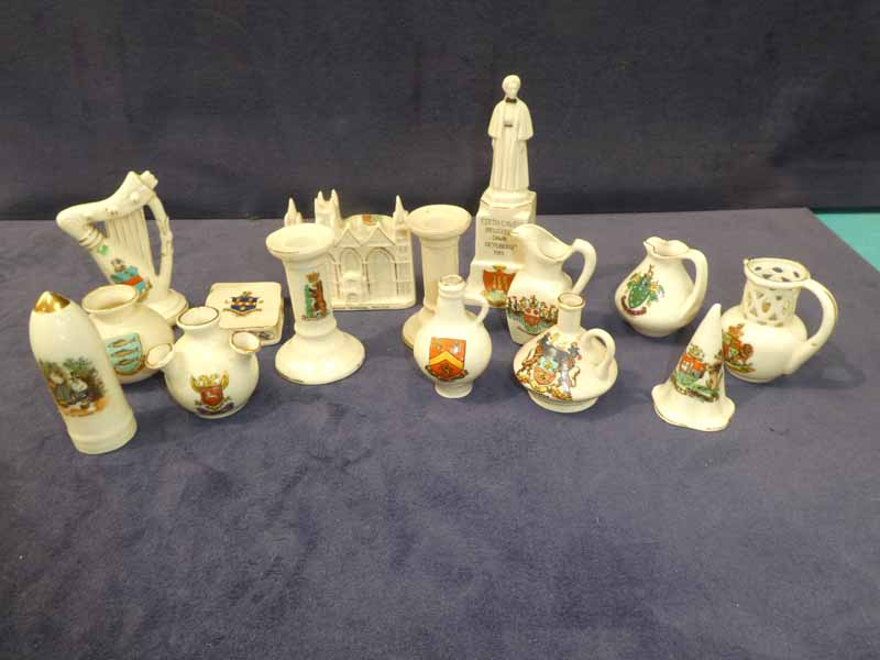 Fifteen items of Crestedware