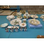 A collection of assorted ceramics to include Portmerion, Wedgwood, Susie Cooper, Aynsley