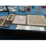 Railway Interest, a framed NWR map sheets 1 & 2, three displays of repro carriage posters, a