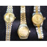 3 lady's wristwatches including a Seiko automatic