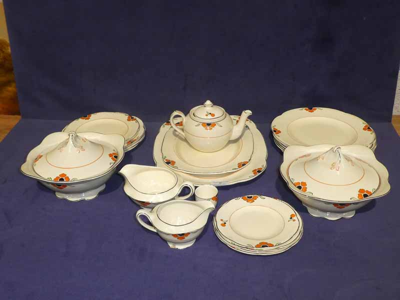 A Wood's ivoryware 23 piece part dinner service