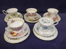 A mixed lot of Royal Albert teaware to include a part calendar service and others, thirty nine