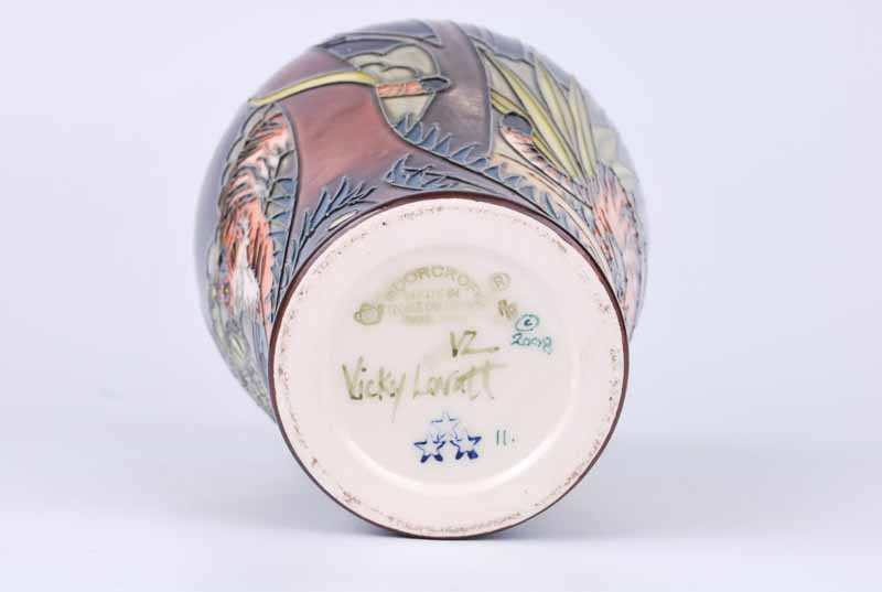 A Moorcroft Tyger Tyger vase by Vicky Lovatt 2008, with M.C.C three star mark, later produced in - Image 3 of 3
