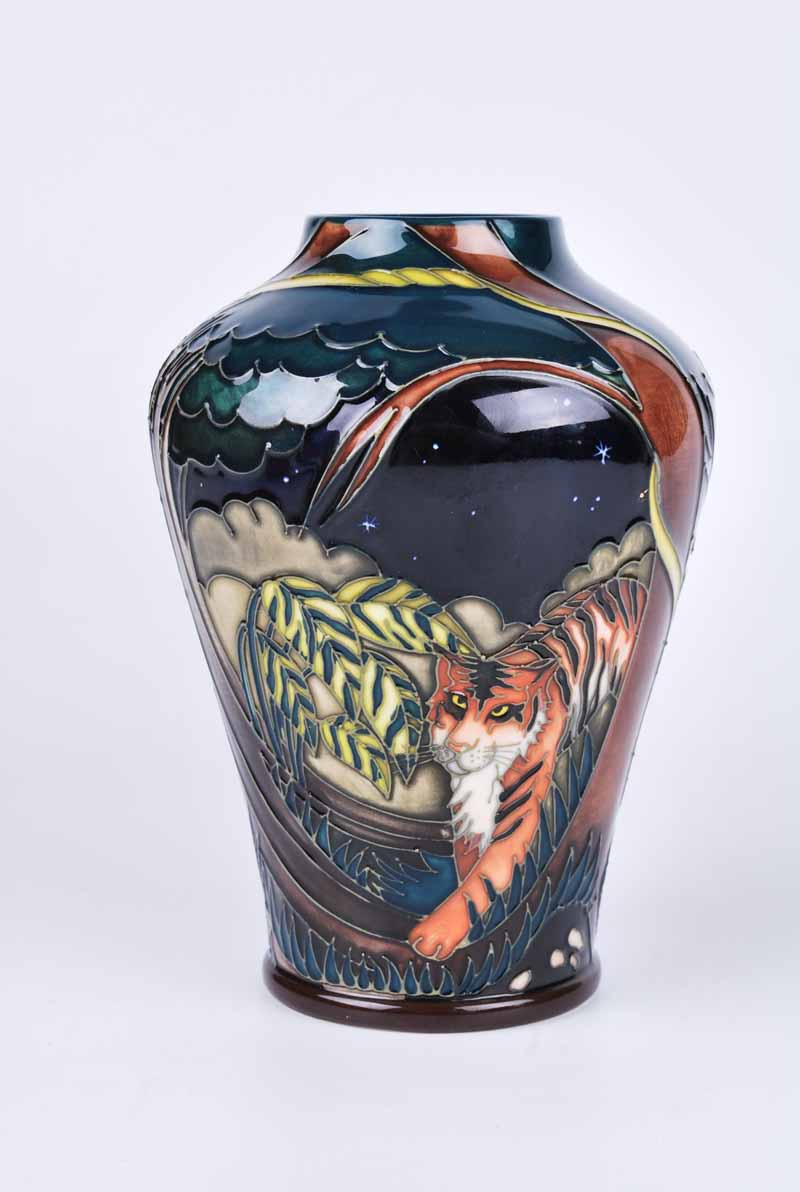 A Moorcroft Tyger Tyger vase by Vicky Lovatt 2008, with M.C.C three star mark, later produced in - Image 2 of 3