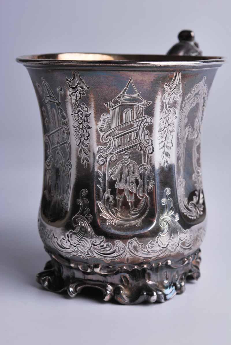 An early Victorian silver Christening tankard, London 1845 by Edward, Edward Junior, John & - Image 2 of 3