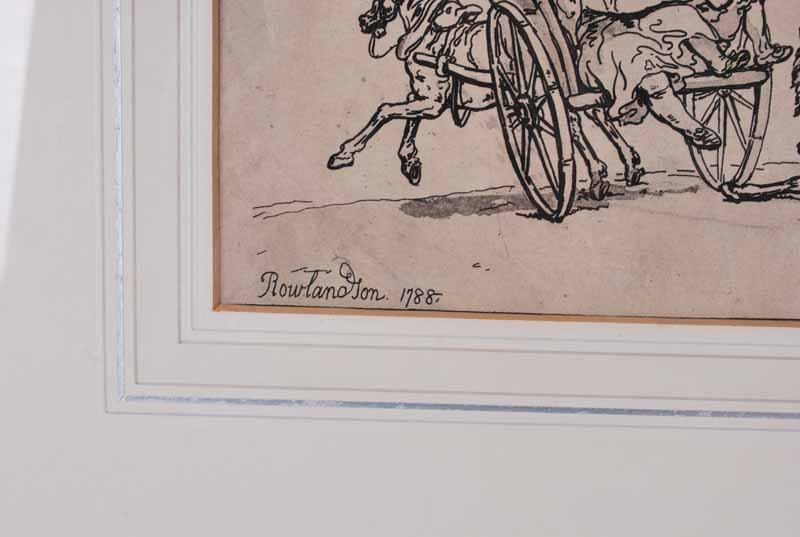Thomas Rowlandson (London 1756-1827) A cart race, 1788 signed 'Rowlandson' in the etching plate - Image 2 of 4