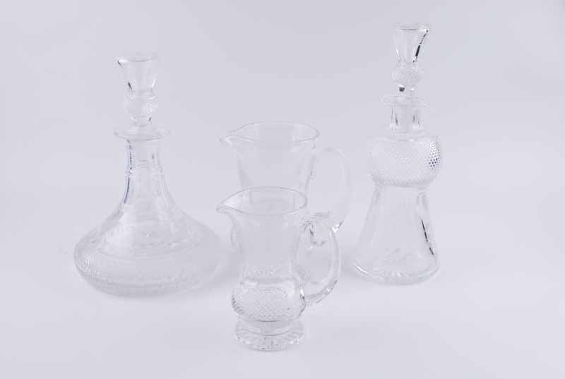 An Edinburgh Crystal 'Thistle' pattern decanter, of thistle bud form with diamond pattern below - Image 3 of 5