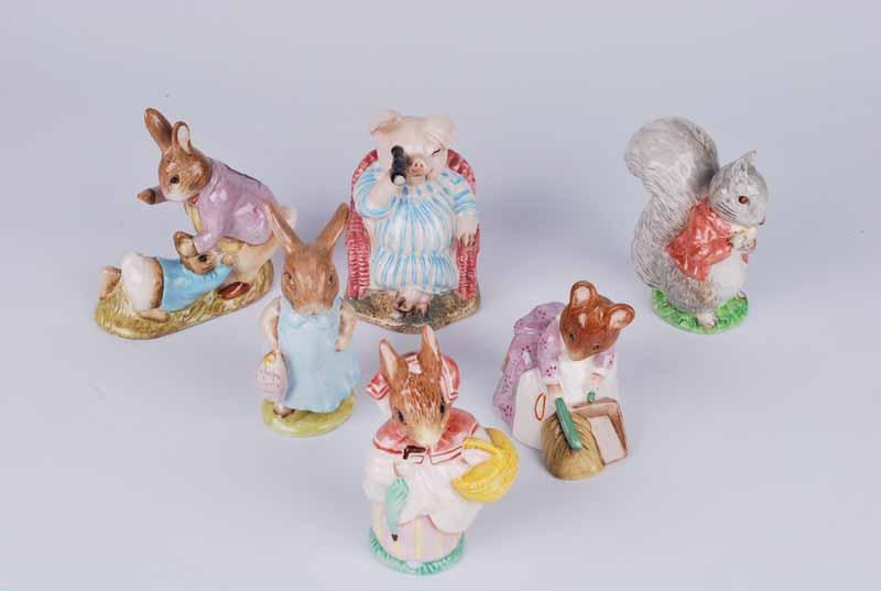 Six Beswick Beatrix Potter figures, mainly BP3 - Image 2 of 3
