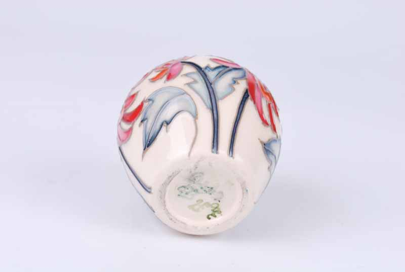 A Moorcroft miniature Chrsanthemum vase representing November in the Floral Months series from - Image 4 of 4