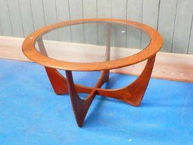 A 1970's circular G Plan 'Astro' coffee table 84 diameter x 46 H