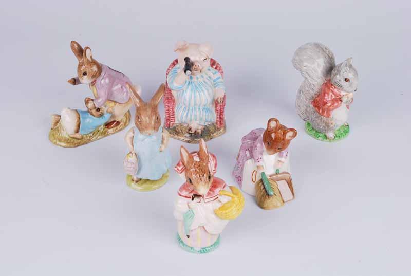 Six Beswick Beatrix Potter figures, mainly BP3 - Image 3 of 3