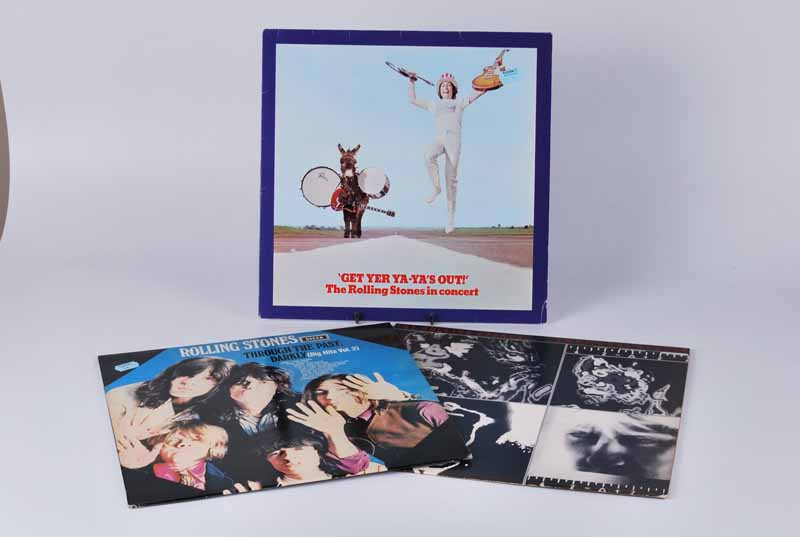 Rollong Stones vinyl Lp's Through The Past Darkly 1969, Get Yer Ya-Ya's Out 1970 and Emotional