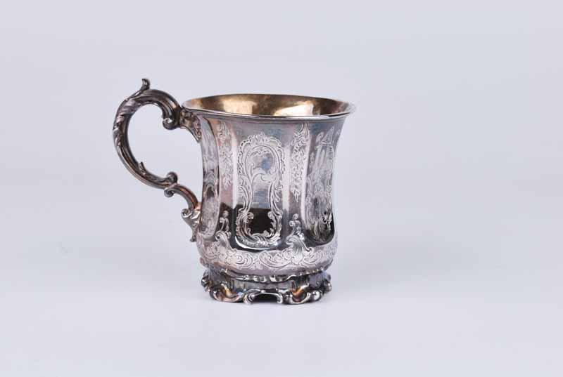 An early Victorian silver Christening tankard, London 1845 by Edward, Edward Junior, John &