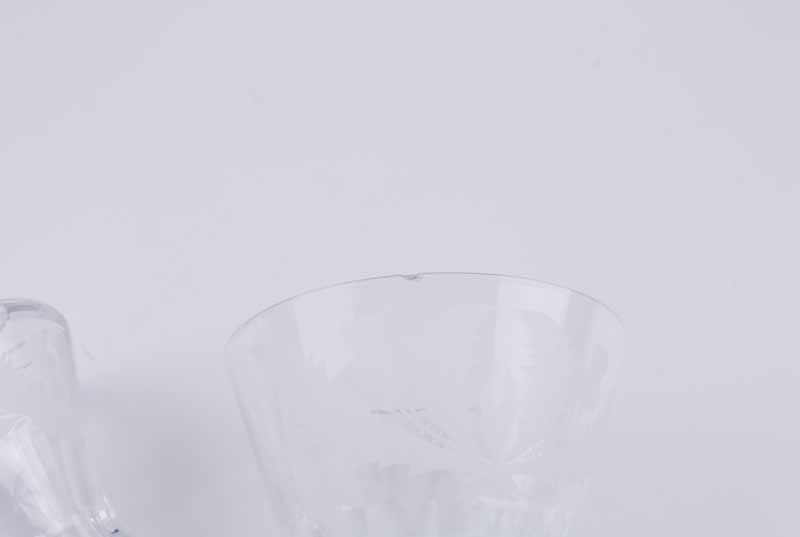 Two Edinburgh Crystal 'Thistle' pattern claret jugs, of thistle bud form with diamond pattern - Image 6 of 7