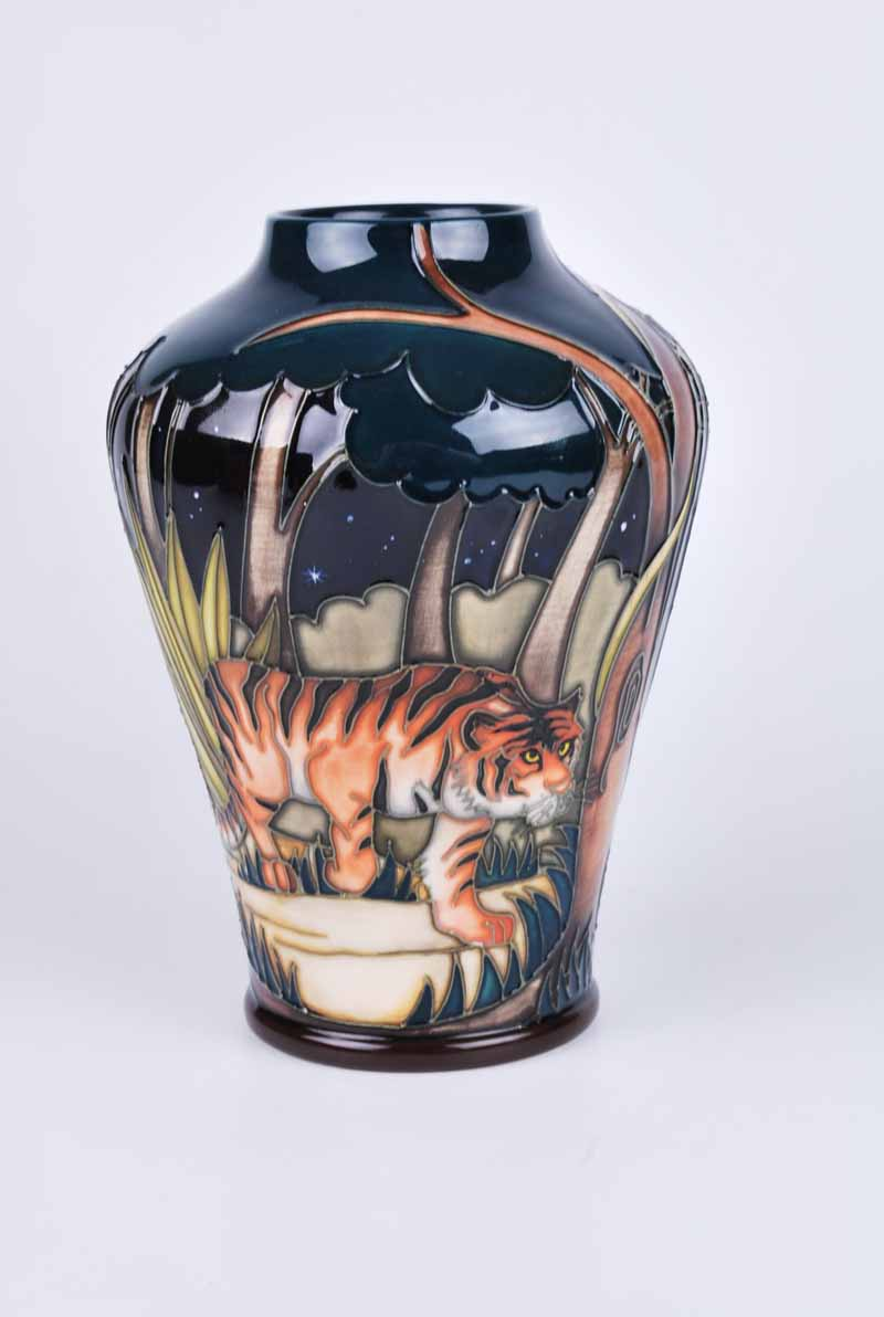 A Moorcroft Tyger Tyger vase by Vicky Lovatt 2008, with M.C.C three star mark, later produced in