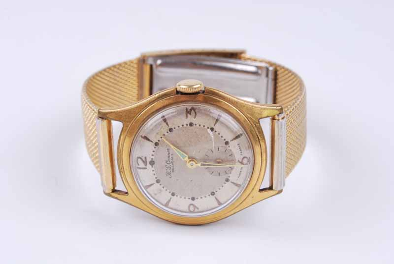 An R.G. Connor of Rochdale gentleman's gold plated manual wind wristwatch, on multilink strap; - Image 3 of 3