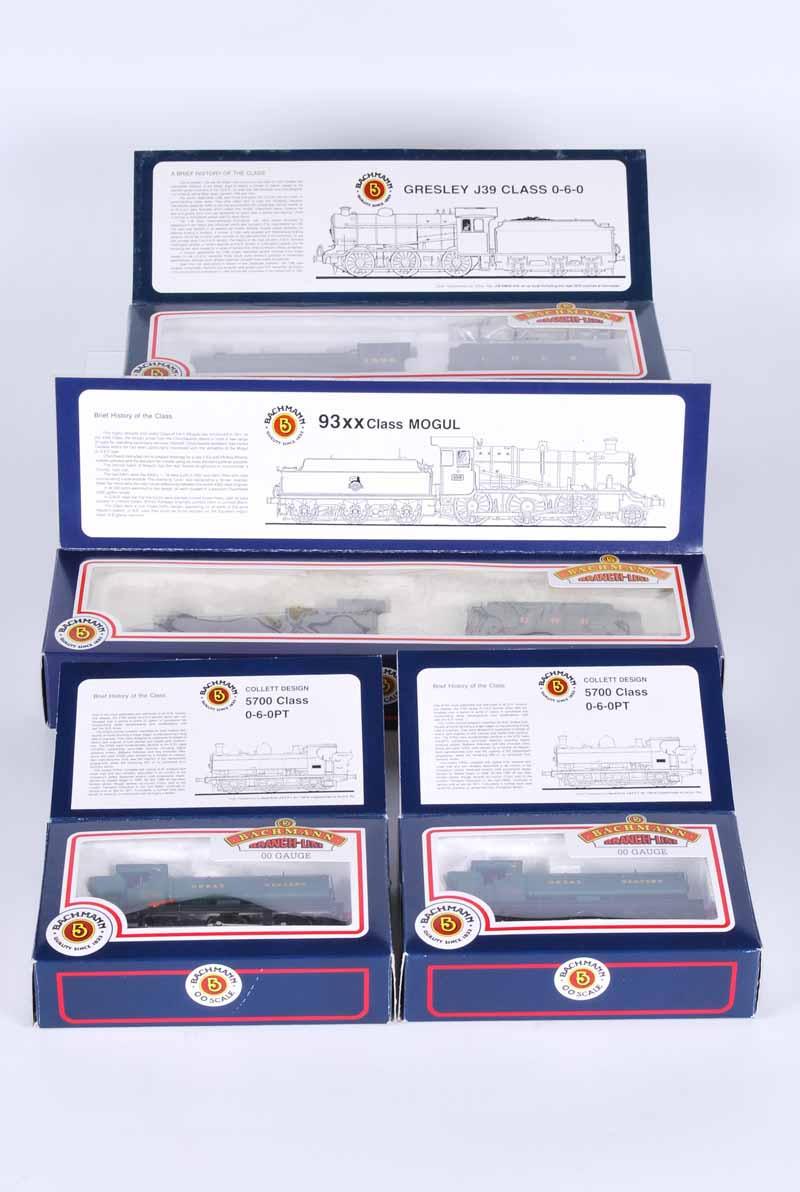 Four Bachman branch line Double O Locomotives, all boxed no31-900 G.W.R class 57xY 0.60 x 2 No31-853