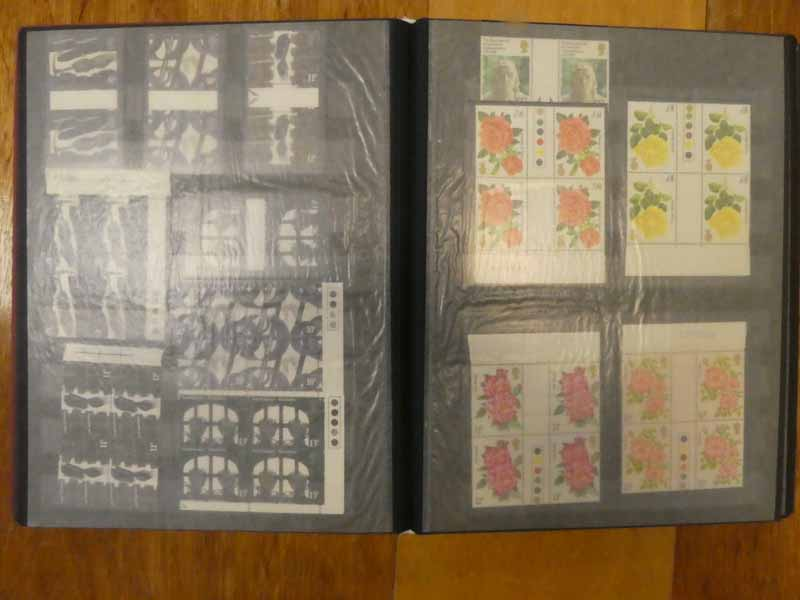 Album of early Queen Elizabeth II mint decimal stamps including booklets, traffic lights, gutter