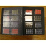 Album of G.B Queen Elizabeth II pre-decimal mint, stamps, sets, 1967 - 1970, booklet pages plus