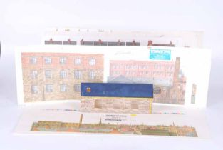 Large collection of model railway track side building and model railway accessories