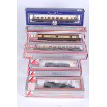 Five Lima Double O Locomotives, all boxed no 205111 G.W.R 2.6.2 45xx small prairie no 205117 G.W.R