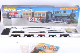 Hornby railways Doubl O G.W.R mixed traffic electric train set, looks to be complete