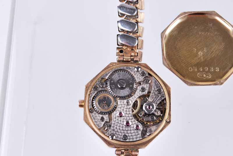 Rolex - a vintage 1930s lady's octagonal 9ct gold wristwatch, the silvered dial with Arabic - Image 2 of 3