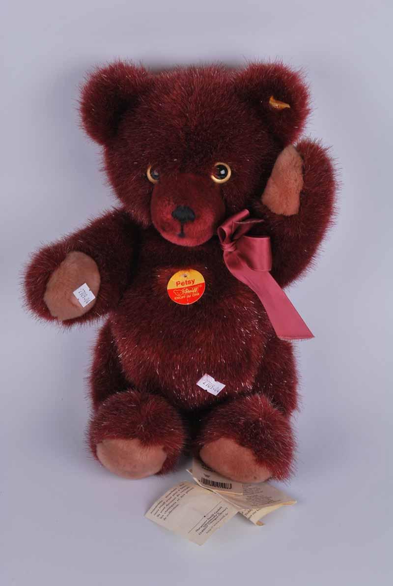 A Steiff purple teddy bear. Petsy