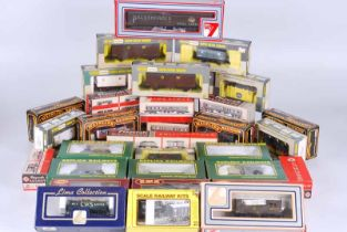 Collection of 35 railway goods wagons boxed by Wrenn, Airfix playcraft, Replica, Mainline, Lima