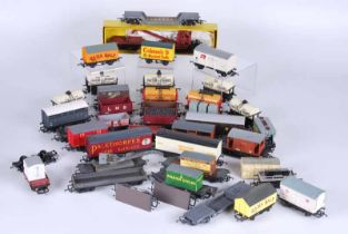 Collection of 50 plus railway goods wagons in three boxes all unboxed