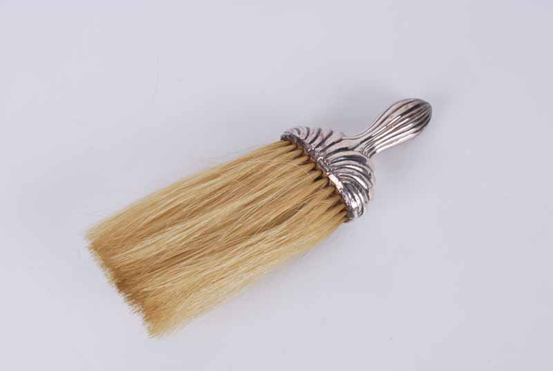 Silver handled dressing table clothes brush or whisk
